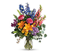 Colors of the Rainbow Vase Arrangement