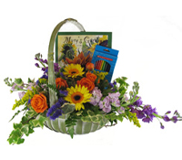 Mary's Garden Arrangement with coloring book and pencils