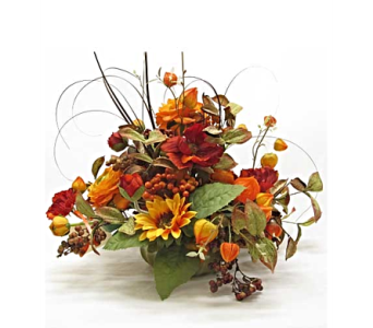 Fall Silk Flower Arrangement